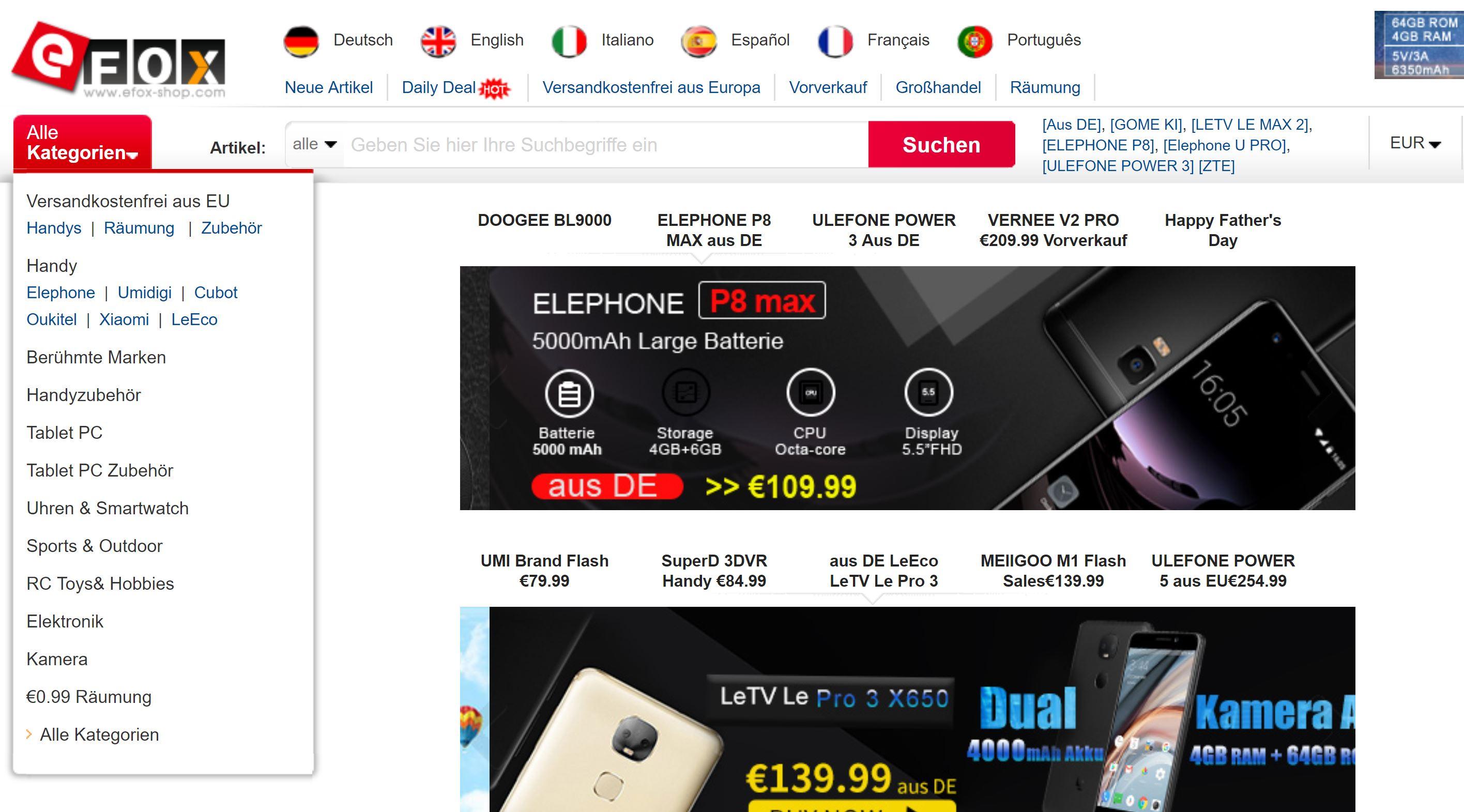 Efox-shop Erfahrung Bewertung