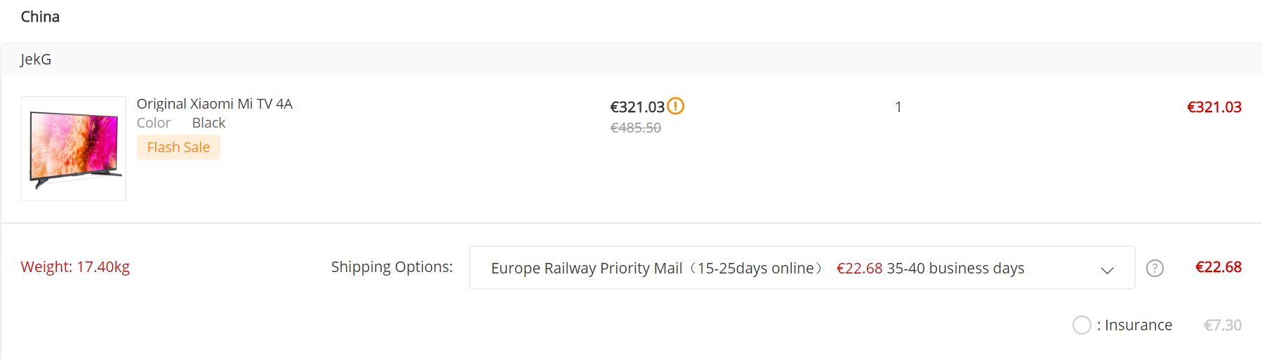 Gearbest Europe Railway Priority Mail