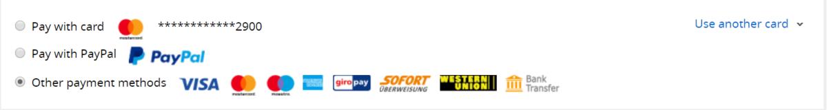 Bezahlung ALiexpress Paypal Sofortüberweisung Kreditkarte
