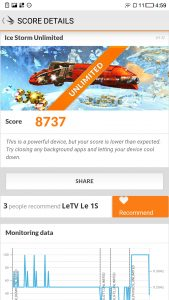 LeTV 1S 3DMark -LeTV 1S 3DMark - Ice Storm Unlimited 8737