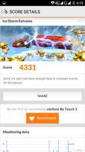 Ulefone Be Touch 3 3D Mark Test Benchmark (2)