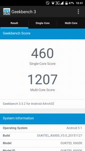 Oukitel K6000 Geekbench 3