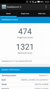 Oukitel K10000 Geekbench 3