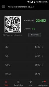 Doogee T6 Benchmark und UI (2)