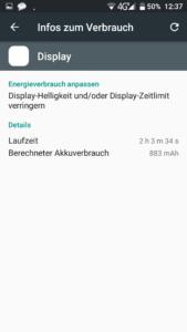 Blackview R7 Display eingeschaltet Akku