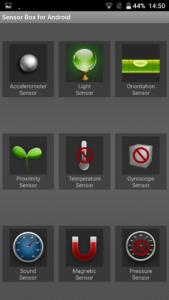 Blackview R7 Sensoren