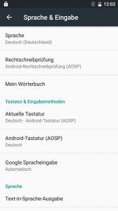 Elephone P9000 Sprache Deutsch