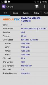 Homtom HT7 CPU