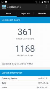 Homtom HT7 Geekbench 3