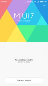 Xiaomi Redmi 3 MIUI 7.1.1.0 Stable