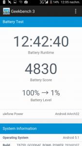Ulefone Power Battery Becnhmark