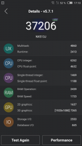 Nubia My Prague Antutu Benchmark