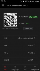 Blackview A8 Antutu Benchmark