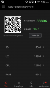 Leagoo Elite 1 Antutu Benchmark