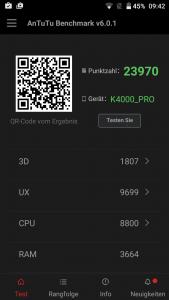 Oukitel K4000 Pro Antutu Benchmark