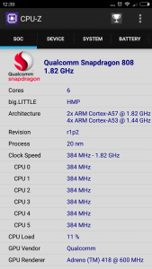 Xiaomi Mi4S CPU-Z