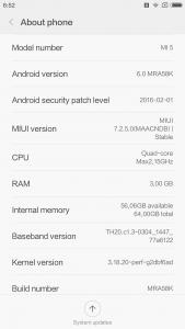 Xiaomi mi5 Specs Daten System