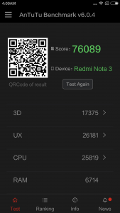 Xiaomi Redmi Note 3 Pro Antutu Benchmark