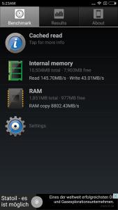 Xiaomi Redmi Note 3 Pro Speicher RAM Geschwindigkeit