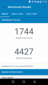 Vernee Apollo Geekbench 3 1