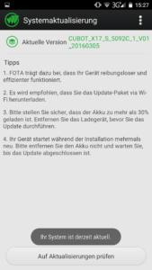 Cubot X17S UI System Update (1)