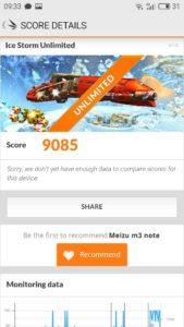 Meizu M3 Note 3DMark Grafikbenchmark