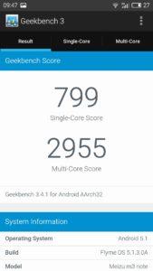 Meizu M3 Note Geekbench 3