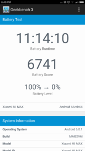Xiaomi Max Akku test Laufzeit