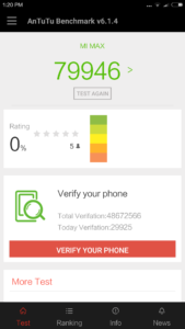 Xiaomi Max Antutu Benchmark