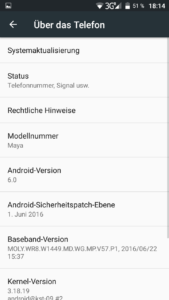 Bluboo Maya System Android 6 (1)