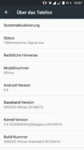 Doogee X5 Max System UI Androdi 6 (1)