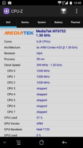 Elephone S3 CPU-Z
