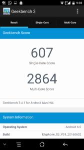 Elephone S3 Geekbench 3