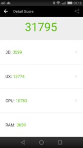 Huawei GX8 Antutu benchmark