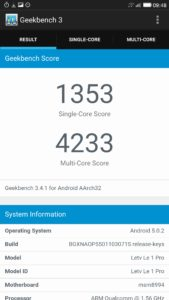 LeTV Le One Pro Geekbench 3 169x300