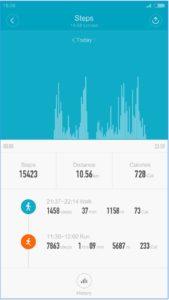 Mi Fit App Schrittzähler