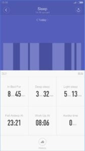 Mi Fit App Sleeptracker
