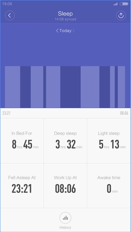 Mi Fit App Sleeptracker