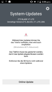 ZTE Blade Lite Favor MI UI Betriebssystem 2 169x300