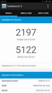 ZUK Z2 Geekbench 3