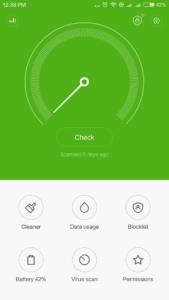 Xiaomi Redmi Pro Sicherheits-Center