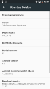 ZOPO Color F2 System Android 6 2 169x300
