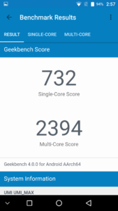 Umi Max Geekbench 4