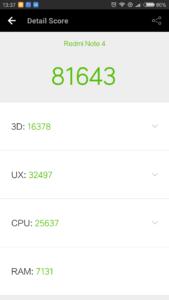 Xiaomi Redmi Note 4 Antutu Benchmark