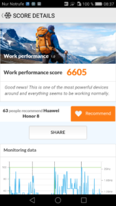 Huawei Honor 8 PCMark Benchmark 169x300