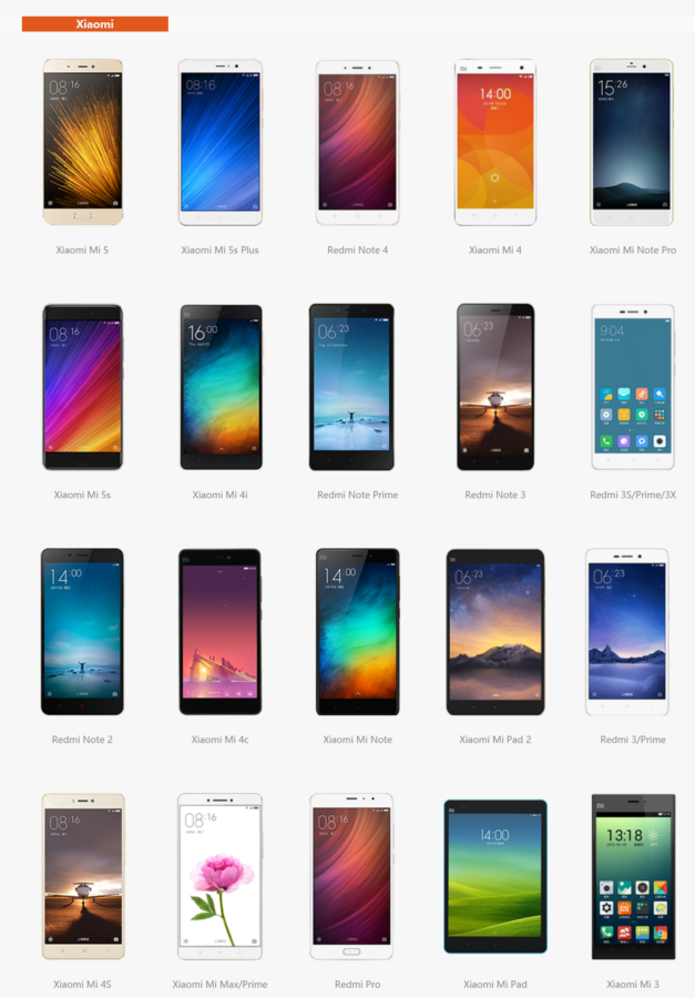 Xiaomi Smartphoen ROM Übersicht 1 627x900