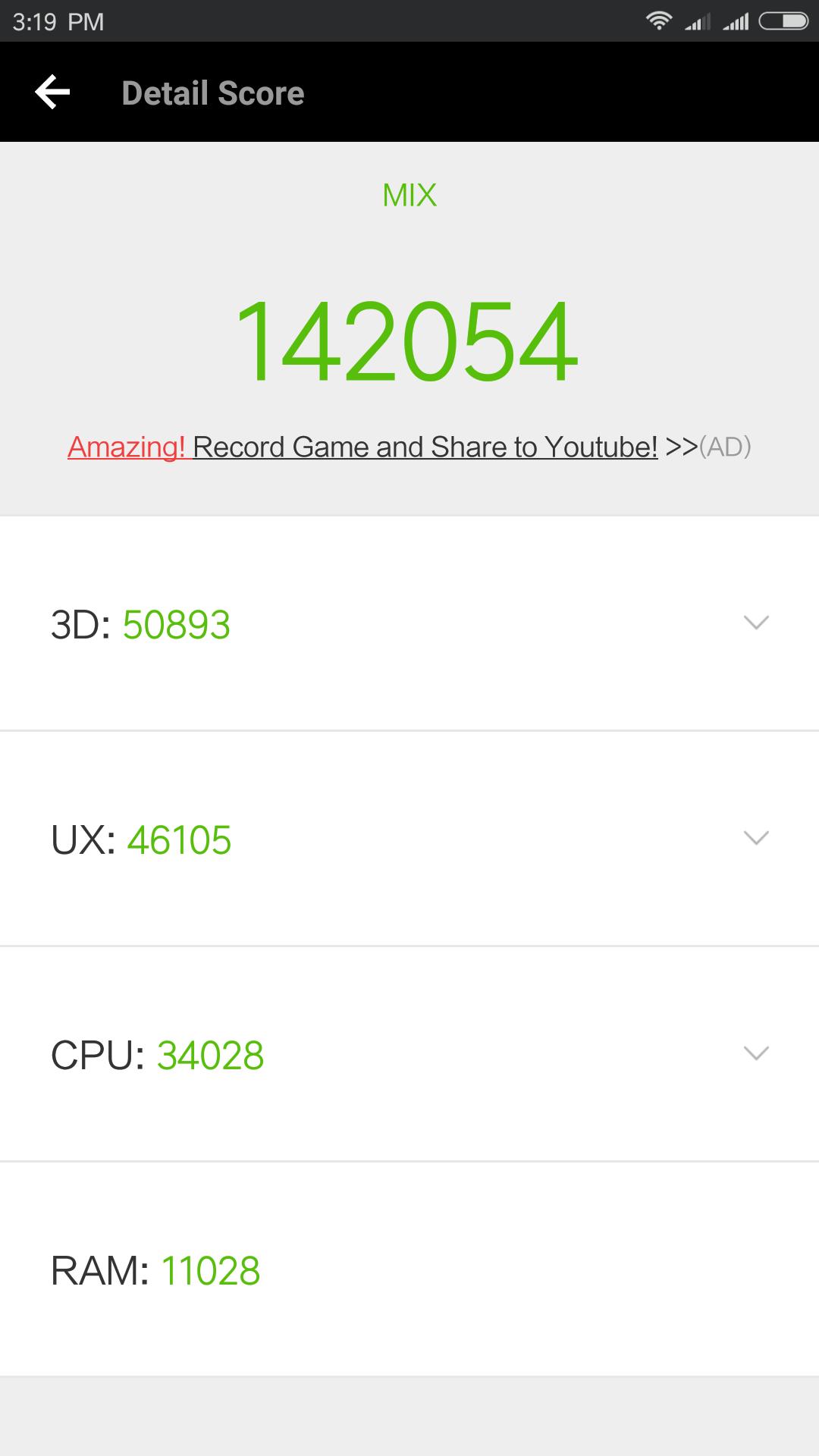 Xiaomi Mi Mix Antutu Benchmark