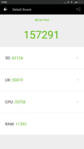 Xiaomi Mi5s Plus Antutu Benchmark 169x300