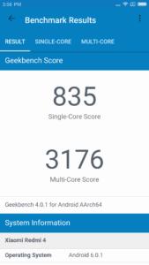 Redmi 4 Geekbench 4 169x300