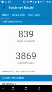 Umi Plus E Geekbench 4 169x300